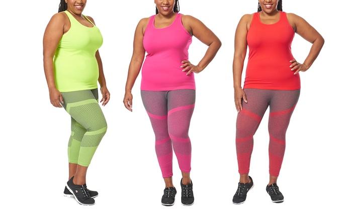 womenu0027s plus size active wear tank top set womenu0027s plus size active wear tank