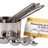 Stainless Steel Measuring Cup and Spoon Set (8-Piece)