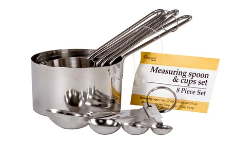 Stainless Steel Measuring Cup and Spoon Set (8-Piece) 5b8a33f0-2079-11e7-9e4b-002590604002