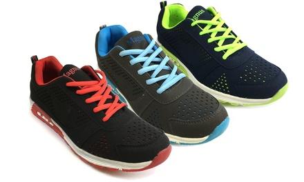 Modische Sneakers für Herren in Grau-Blau, Schwarz-Rot oder Navy-Neon-Grün (Munchen)