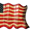 Urban Designs Antique-Style American Flag Hanging Metal Wall Decor