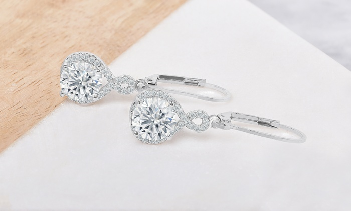 Infinity Crystal Drop Earrings Made with Swarovski Elements 1d6de74974