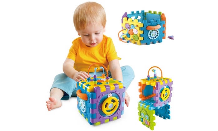 Five-in-One Activity Play Cube for Children