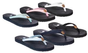 Riverberry Women's Aloha Flip-Flops with Yoga Mat Padding