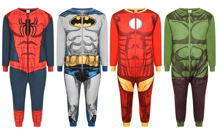 Children's Disney or Marvel Fleece Onesie in Choice of Size for £6.99