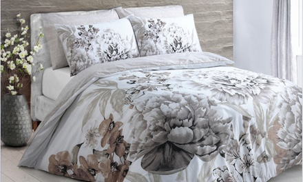 Pieridae Large Floral Bloom or Butterfly Reversible Duvet Set in Choice of Colour and Size