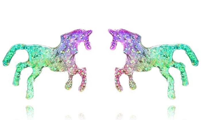 Orecchini a forma di unicorno