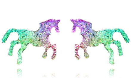 Sparkling Unicorn Earrings