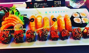 Cocoifaro Sushi: Menu con barca di sushi da 48 o 96 pezzi più calice di vino al ristorante Cocoifaro Sushi (sconto fino a 72%)