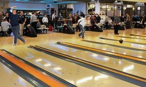 Bowling Arena: 2 oder 3 Std. Sonntags-Bowling für bis zu 8 Pers. inkl. Leihschuhen und Nachos in der Bowling Arena (bis zu 53% sparen)