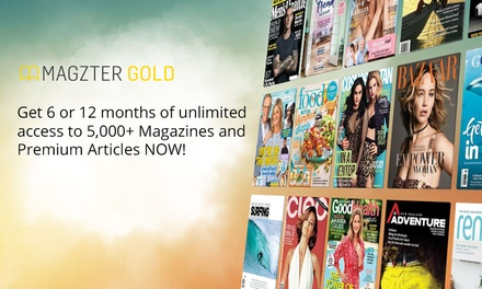 6 Months ($19.99) or 12 Months of Unlimited Online Magazines ($29.99) from Magzter (Up to $138 Value)