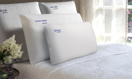 1, 2 ou 4 Oreillers mémoire de forme anti acariens déhoussables, marque Sampur