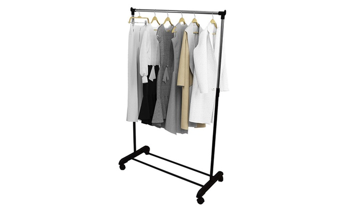 Mobile Clothes Hanging Rail