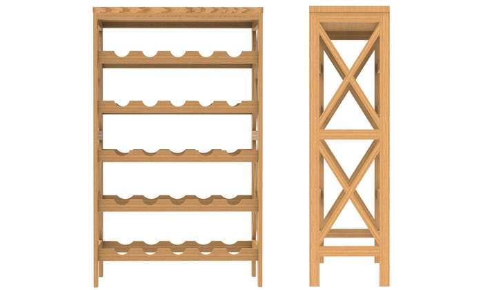 Incredible Up To 47 Off On Lavish Home Wine Bottle Rack Groupon Goods Home Interior And Landscaping Oversignezvosmurscom