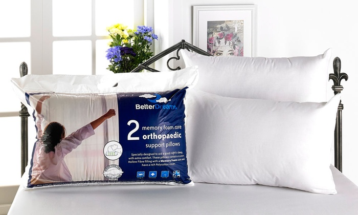 Two, Four or Six Memory Foam Core Pillows from £10