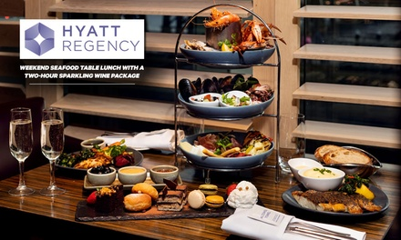 Weekend Seafood Table Lunch + 2 hour Sparkling Wine Package: 1($65), 2($130) or 4Ppl($260) at 5* Hyatt Regency Sydney