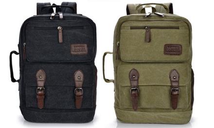 Arolo Vintage Rucksack in Schwarz oder Khaki (71% sparen)*