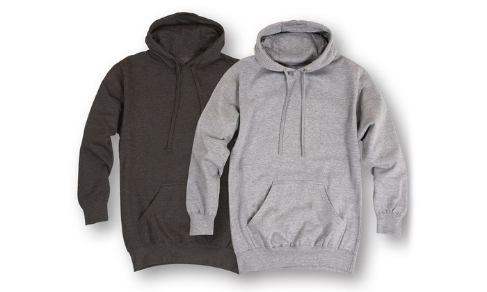 Men's Fleece Pullover Hoodie (2-Pack)