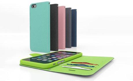 PocketFolio Slim Wallet Case for iPhone 5/5s/6 or Samsung Galaxy S4/S5