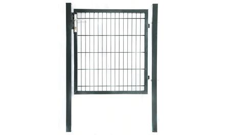 Home Deluxe Doppelstabmatten-Gartentor feuerverzinktem, rostbeständiger Stahl inkl. Schloss, Drückergarnitur Schlüssel  (79,99 €)