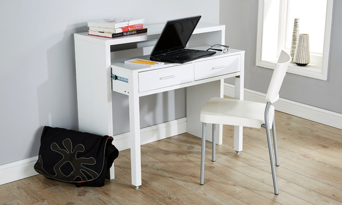 2 Drawer Extendable Console Desk Groupon Goods