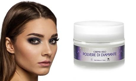 1 o 2 creme viso polvere di diamante effetto botulino naturale Efory Cosmetics da 50 ml