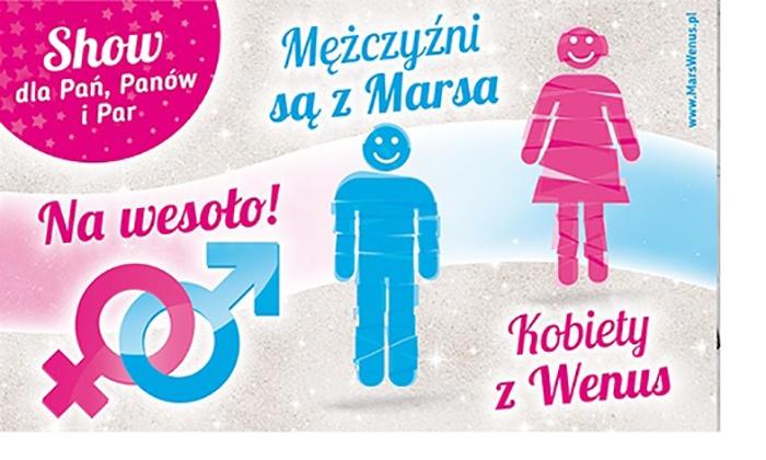 """49 zł: bilet na Aplauz Show """"Mężczyźni są z Marsa, Kobiety z Venus"""" Grzegorza Kordka – 9 miast (zamiast 127 zł)"""