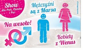 """Go Big Events: 49,99 zł: bilet na Aplauz Show """"Mężczyźni z Marsa, Kobiety z Wenus"""" Grzegorza Kordka – 7 miast (zamiast 127 zł)"""