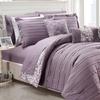 Monique Reversible Pleated Comforter Set with Sheets (10-Piece)