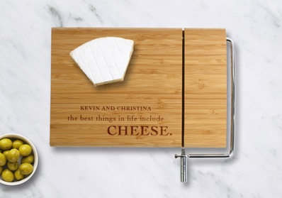 One or Two Personalized Bamboo Cheese Cutting Boards with Slicer from Monogram Online (Up to 51% Off) 6bbffd0a-bd7c-46e9-bda4-2ac430f10c29