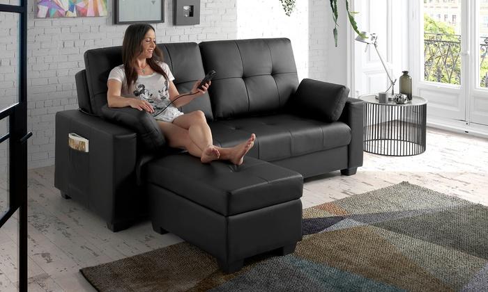 canap lit modelant eco de groupon. Black Bedroom Furniture Sets. Home Design Ideas