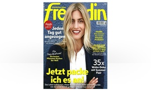 Eventus Media GmbH: Halbjahres-Abo (13 Ausgaben) der Zeitschrift freundin frei Haus (87% sparen*)