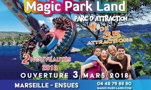 Magic Park Land: Entrée pour 1 ou 2 adultes et 1, 2 ou 3 enfants dès 27 € au Magic Park Land