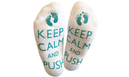 'Keep Calm and Push' Socks