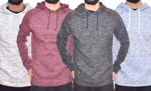 BlackJack Men's Spacedye Fleece Pullover Raglan Slim-Fit Hoodie