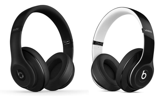 beats by dre studio 2 0 wireless bluetooth headphones groupon. Black Bedroom Furniture Sets. Home Design Ideas