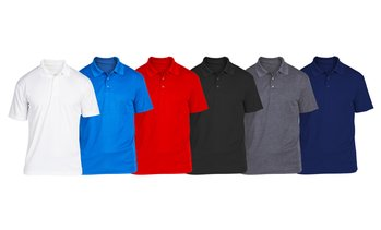 SEL Men's Cotton Jersey Polo (6-Pack; S-2XL)