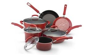 Rachael Ray Hard Enamel Cookware Set (10-Piece)