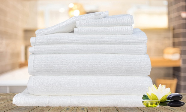 8pc Egyptian Cotton Bath Towel Set Groupon