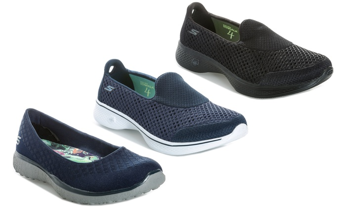 Skechers Microburst One-Up Shoes Memory Foam Sport Go Walk Womens Flats Trainers