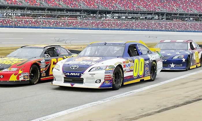Racing Adventure - Charlotte Motor Speedway: $99 for a 3-Lap Stock-Car Ride Along Experience from Racing Adventure ($195 Value)