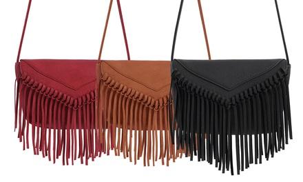 shopping angebote fransen handtasche 55 sparen. Black Bedroom Furniture Sets. Home Design Ideas