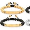 Beaded Drawstring ID Bracelet for Men or Women