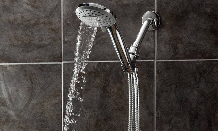 A-Flow Waterfall and Rainfall 3-Function 4.5 Handheld Showerhead