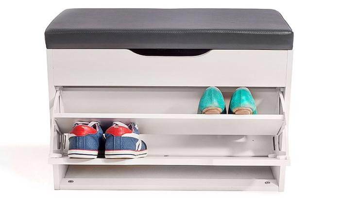 Merveilleux Hallway Shoe Storage Seat ...