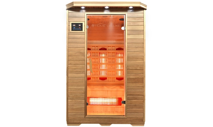 home deluxe infrarotsauna redsun groupon. Black Bedroom Furniture Sets. Home Design Ideas