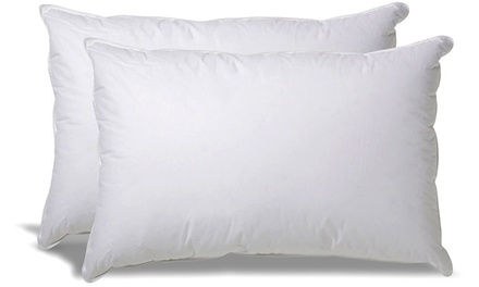 One (AED 49), Two (AED 79) or Three (AED 99) White Cotton Pillow Two Pack Sets
