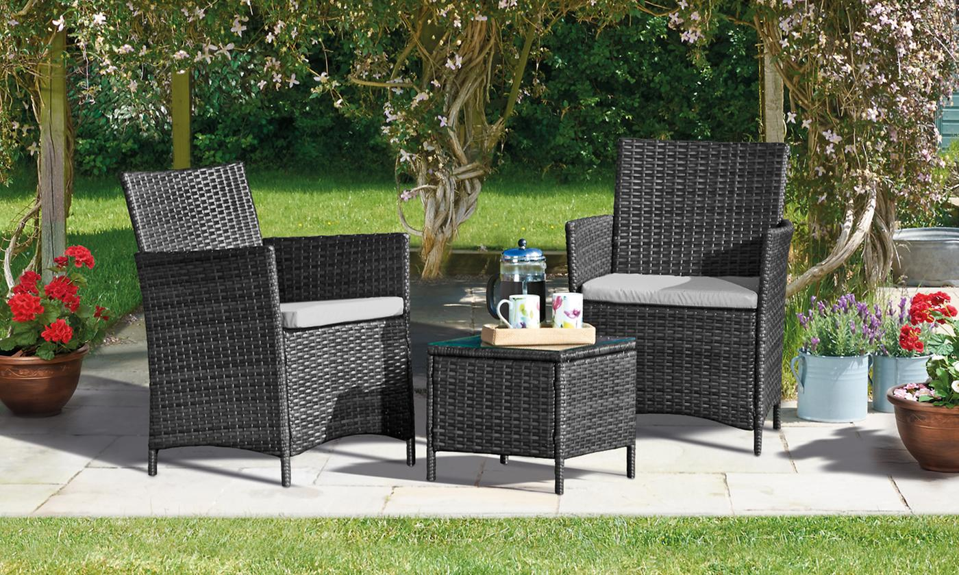 Seville Three-Piece Bistro Rattan Set from £114.99