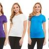 Women's Hi-Low Crew-Neck T-Shirt