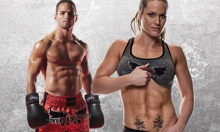 4 or 10 Kickboxing Classes with Personal-Training Session and Boxing Gloves at iLoveKickboxing.com  (74% Off )